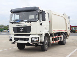 Shacman F2000 4x2 12 cbm Compression Refuse Collector