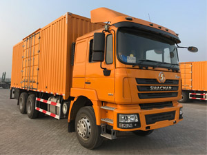 Shacman F3000 6x4 300hp Steel Box Truck with Cummins Engine