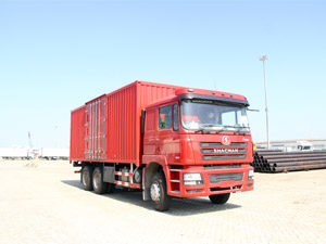 Shacman F3000 6x4 Steel Box truck with 1.5 Ton Tail Lift