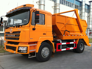 Shacman F3000 Swept-Body Refuse Collector Swing Arm Garbage Truck Skip Loader Garbage Truck