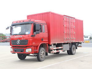 Shacman L3000 4x2 Steel Box Truck with tail lift