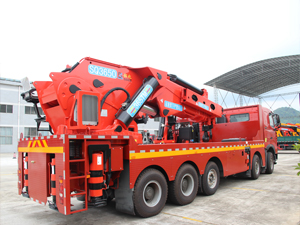 Shacman F3000 90 ton knuckle boomed truck-mounted crane from Shacman