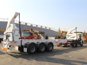shacman container side loder for loading 40ft 20ft container