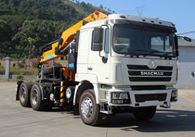 Shacman f3000 knuckle-boomed truck crane