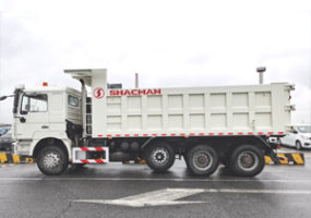 Shacman f3000 385HP 8×4 dump truck with lift axle