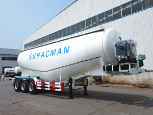 3 Axles 45 cubic meter 50 ton bulk cement tanker trailer by SHACMAN